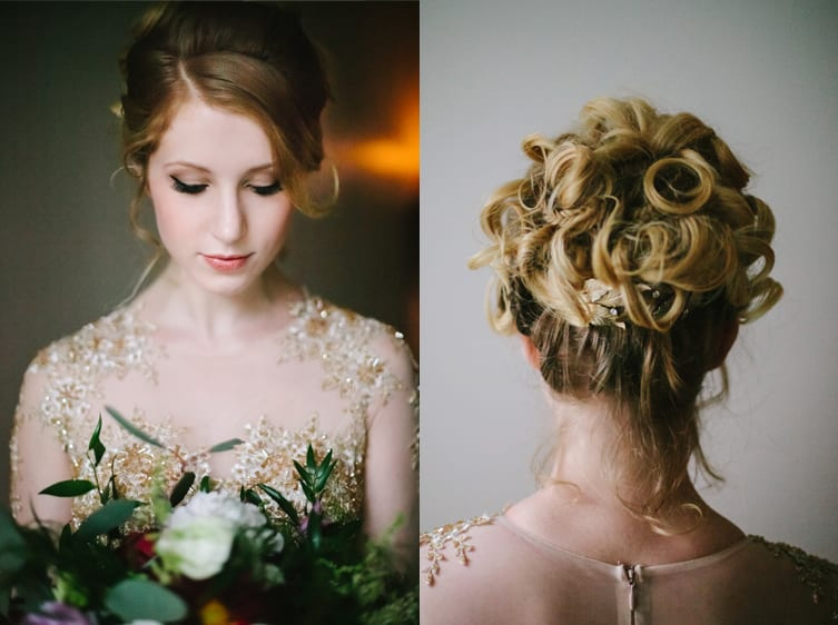 Spokane Vintage Wedding Hair and Makeup