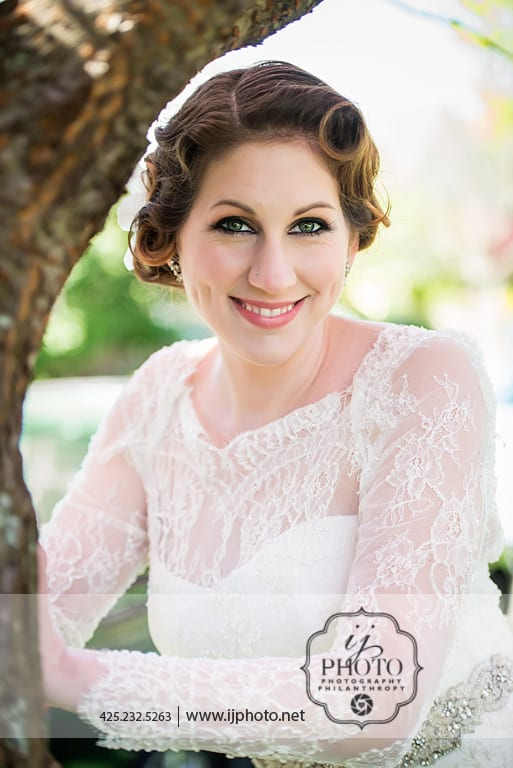 Vintage Wedding makeup and Hair Seattle