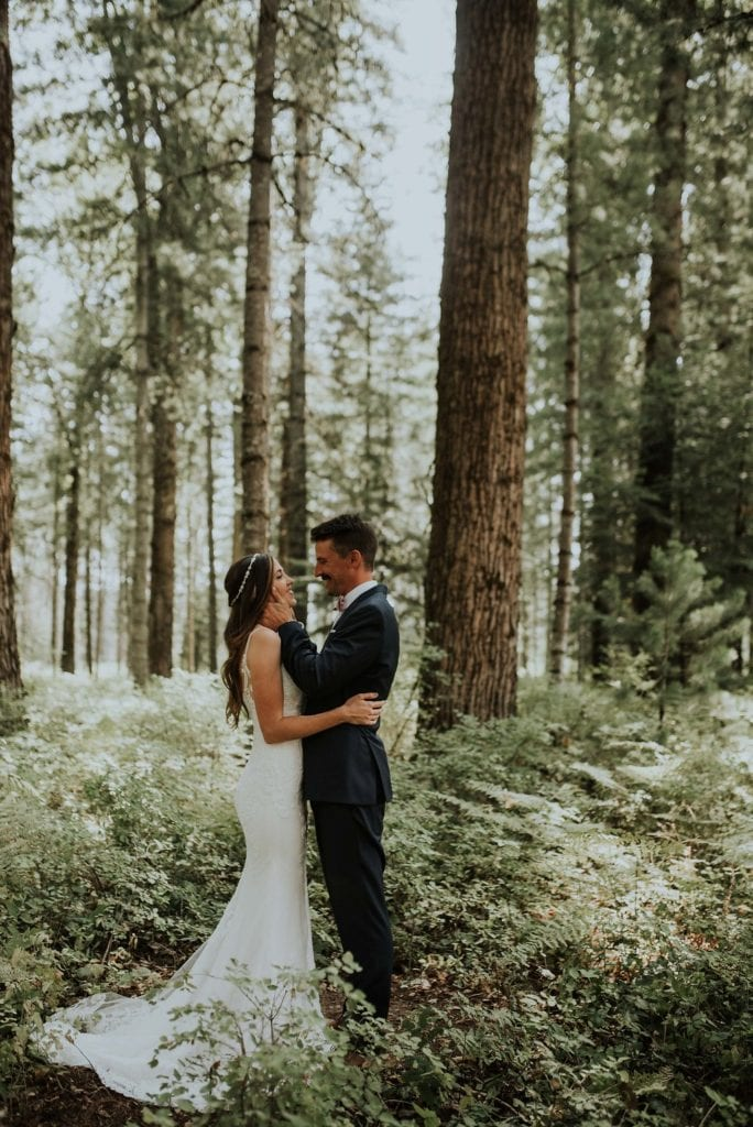 romantic first look Sandpoint ID destination makeup artist