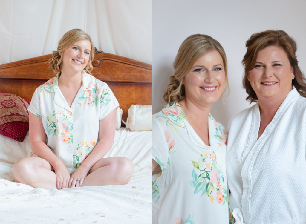 destination bride gets ready in bonners ferry with her mother glowy makeup